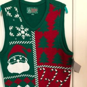Sweaters - (hold)Ugly Christmas sweater vest green red Unisex